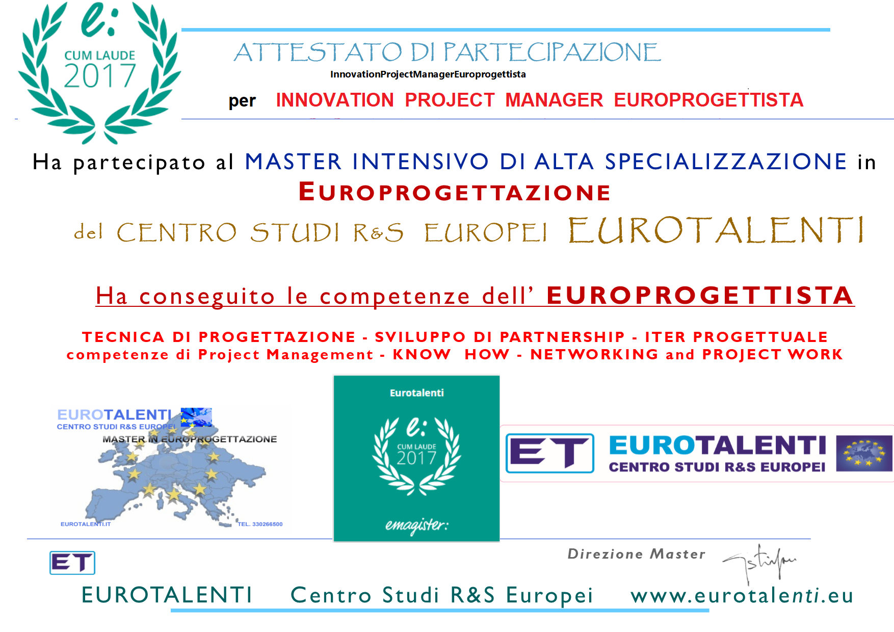 Scopri come diventare Innovation Project Manager Europrogettista certificato